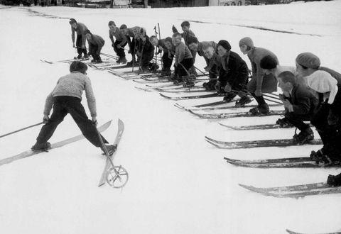 Historische Ansicht: Skikurs