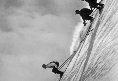 Historische Ansicht: Skifahren