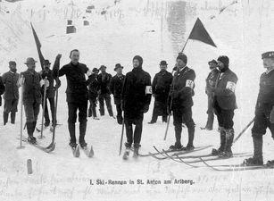 Historische Ansicht: erstes Arlberg Kandahar Rennen