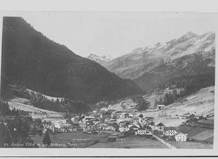 Historische Ansicht: St. Anton um 1927