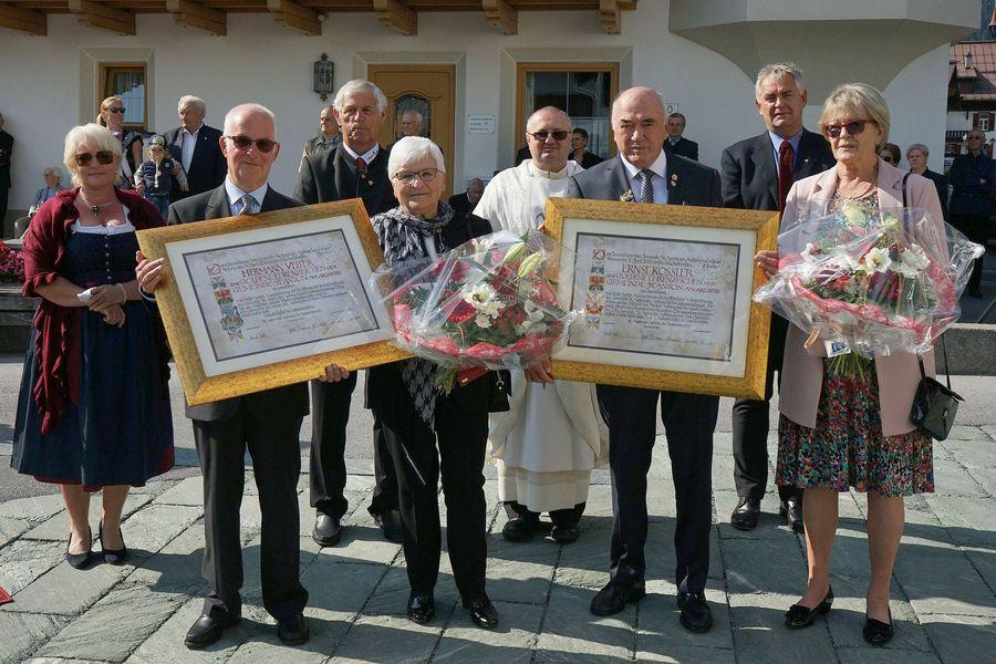 Ernst Kössler und Hermann Veiter erhielten das goldene Ehrenzeichen