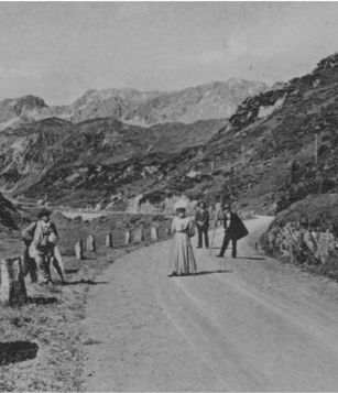 Historische Ansicht: Arlbergpassstraße