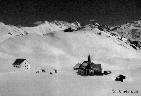 Historische Ansicht: Arlberg Hospiz