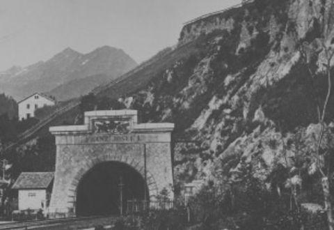 Historische Ansicht: Arlbergbahntunnel Portal Ost