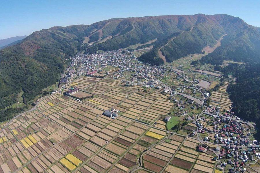 Nozawa Onsen von oben
