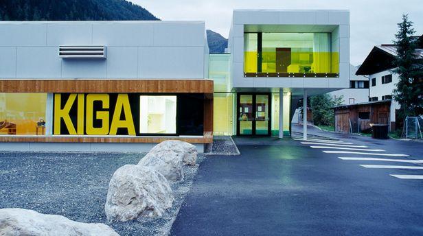 Außenansicht Kindergarten St. Anton am Arlberg