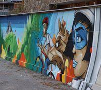 Graffitiwand Terminal Ost - urbane Streetart