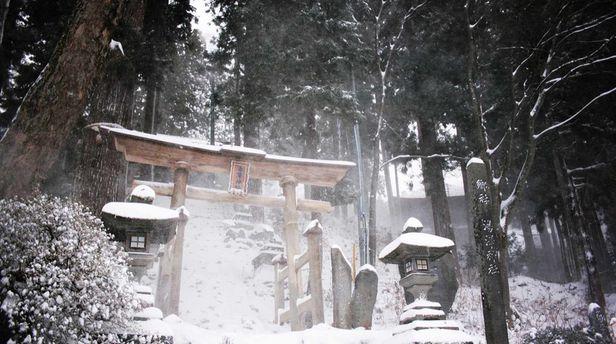 Tempelanlage in Nozawa Onsen
