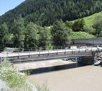 Radweg Stanzertal Abschnitt Schnann alte Brücke