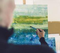Künstler Peppi Spiss bei der Arbeit