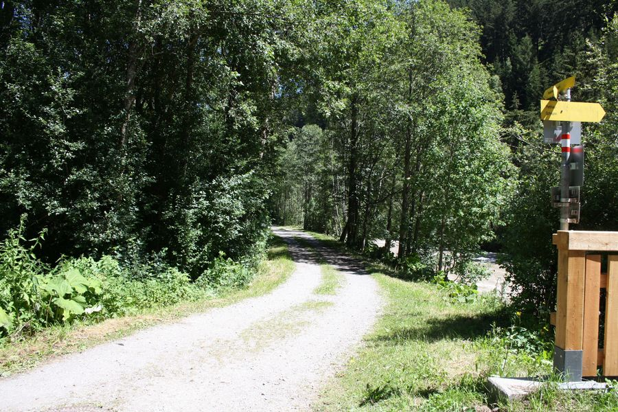 zukünftiger Verlauf Radweg Stanzertal Abschnitt Schnann - Flirsch
