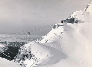 Historische Ansicht: Vallugabahn um 1955