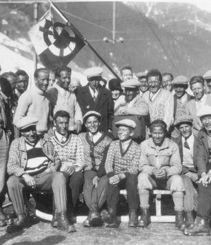 Historische Ansicht: Vereinsfoto Ski Club Arlberg